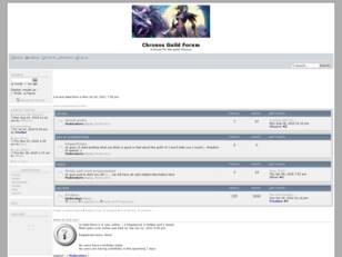 Chronos Guild Forum