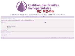 Forum de la CFH (Québec) - LGBT Family Coalition Forum (Quebec)
