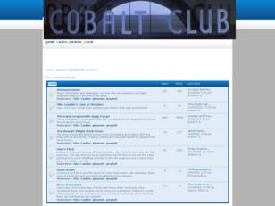 Free forum : The Cobalt Club Annex