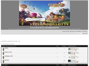 Forumactif.com : Forum Clash Of Clan LECLANCOILLOTTE