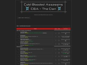 Welcome to the Official CBA Clan Site. Have Fun.
