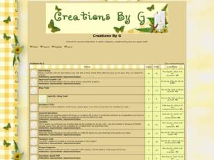 Free forum : Creations By G