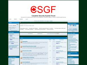 Canadian Security Guards Forum