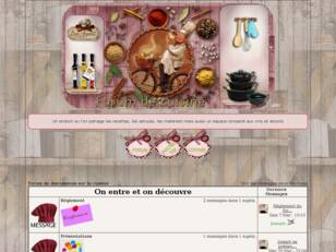 Forum de discussions sur la cuisine