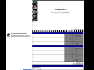 Forum gratuit : custom dvd3d