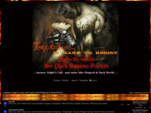 Dare to enter the enchanted world of ...The Dark Realms Forums