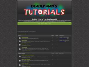 Roblox Tutorial's by Deadlyman66