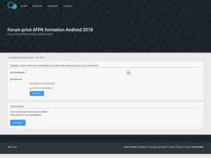 Forum privé AFPA formation Android 2018