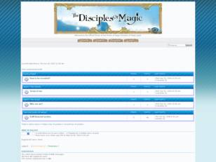 Official Disciples of Magic forum
