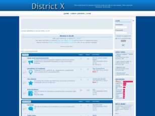 District X - Forum Index