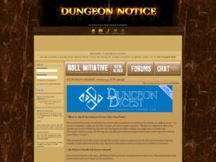 Dungeon Notice - Online Pen & Paper Roleplaying
