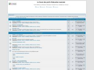 Le forum des profs d'education musicale
