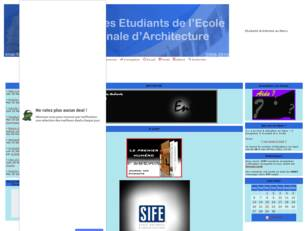 Etudiants de l'Ecole Nationale d'Architecture -ENA