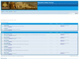Ephestion Online Forums