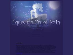 Equestria Cry of Pain