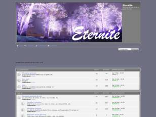 Bienvenue sur le forum Eternite !