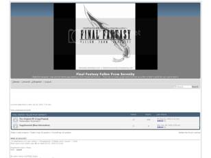Final Fantasy Fallen From Serenity