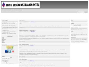 First Recon Battalion Intel Center