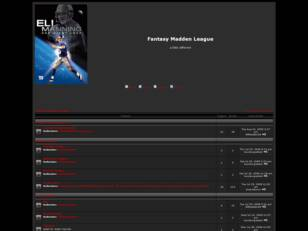 Free forum : Fantasy Madden League