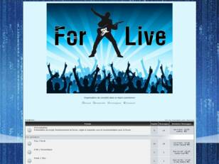 creer un forum : For@Live