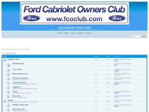 Ford cabriolet Owners Club