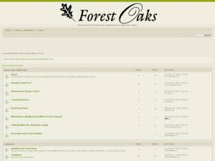 Forest Oaks Forums
