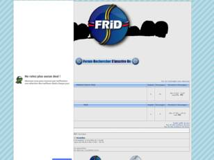 Bienvenue sur le forum de l'association de la FRID