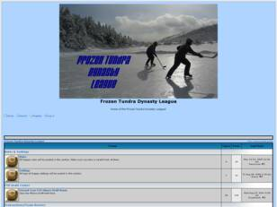 Frozen Tundra Dynasty League