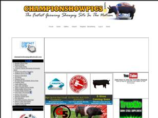 Champion Show Pigs - Forums,advertising, videos, o