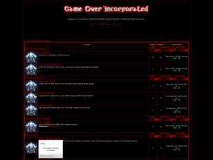 Free forum : Game Over Incorporated