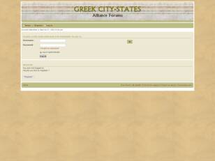 Greek City States Alliance Forums