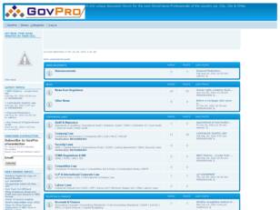Welcome to GovPro Discussion Forum