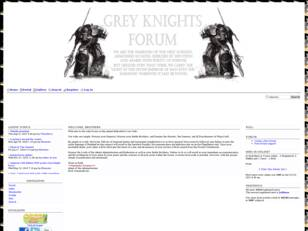 Grey knights Forums