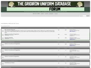 Free forum : The Gridiron Uniform Database