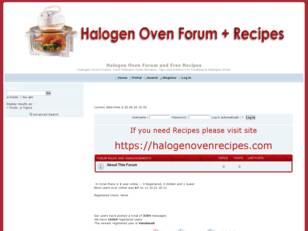 Free Halogen Oven Recipes. Halogen Oven Forum. Halogen Oven Shop.