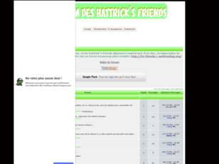Forum officiel des hattrick's friends