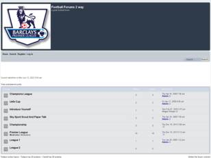 Free forum : Football Forums 2 way