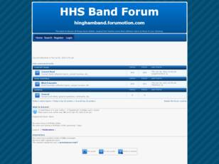 Hingham High School Band Forum