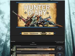 Hunter Diary | Forum Monster Hunter
