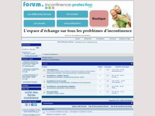 Forum incontinence, fuites urinaires, information incontinence