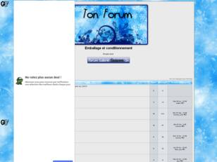 creer un forum : Emballage et conditionnement