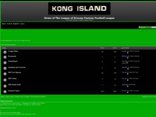 Free forum : The Kong Dynasty Fantasy Football League