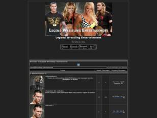 creer un forum : Legend Wrestling Entertainment