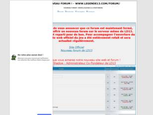 NOUVEAU FORUM ! WWW.LEGENDE13.COM/FORUM/