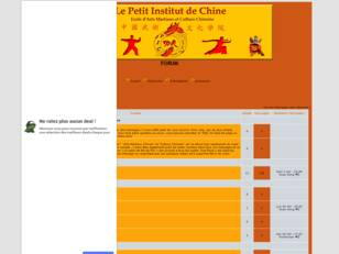 creer un forum : Petit Institut de Chine