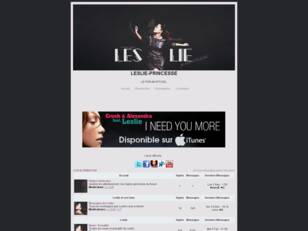 Leslie-Princesse : Le Forum Officiel