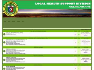Local Health Support Division Archives