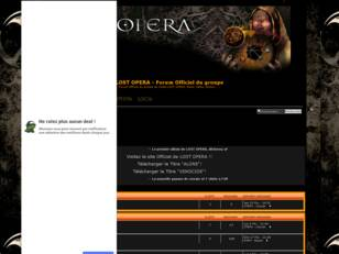 LOST OPERA - Forum Officiel du Groupe de Metal