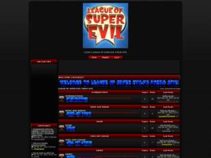 LEAGUE OF SUPER EVIL FORUM SITE