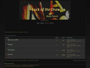 Luck of the Draw Music Forum
